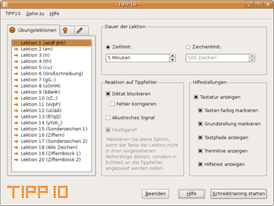 TIPP10 Screenshot